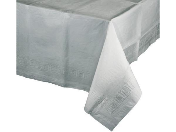 Party Kit Company - Tableware Tablecloths Silver Silver Plastic Lined Party Tablecloth