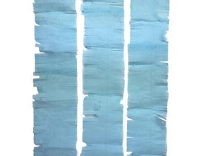 Party Kit Company - Decorations Garlands and Bunting Light Blue Tissue Fringe Streamer
