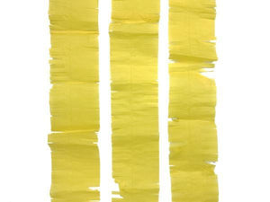 Party Kit Company - Decorations Garlands and Bunting Yellow Tissue Fringe Streamer
