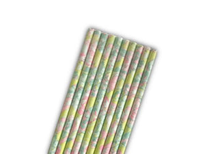 Party Kit Company - Tableware Straws Tropical watercolour paper party straws (25pk)