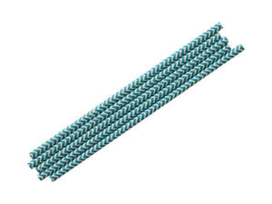 Party Kit Company - Tableware Straws Turquoise Chevron Straw (25pk)