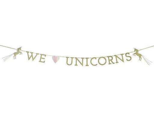 Party Kit Company - Decorations Garlands and Bunting We Heart Unicorns Party Bunting