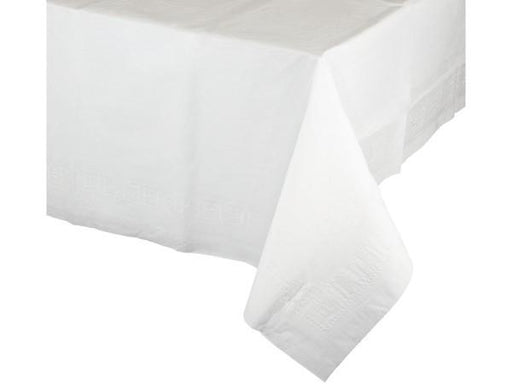 Party Kit Company - Tableware Tablecloths White White Plastic Lined Party Tablecloth