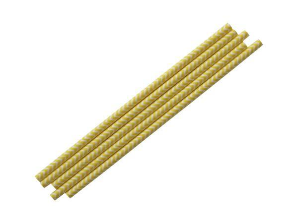 Party Kit Company - Tableware Straws Yellow Chevron Straw (25pk)