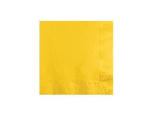 Party Kit Company - Tableware Napkins Yellow Cocktail Napkins (20pk)
