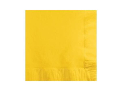 Party Kit Company - Tableware Napkins Yellow Lunch napkins (20pk)