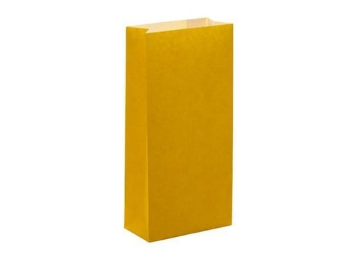 Party Kit Company - Tableware Favour Bags Yellow Paper Party Bags (12pk)