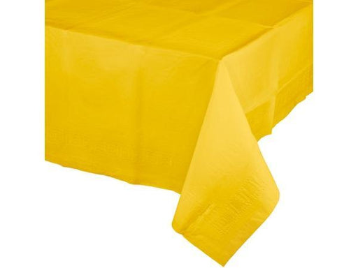 Party Kit Company - Tableware Tablecloths Yellow Plastic Lined Party Tablecloth