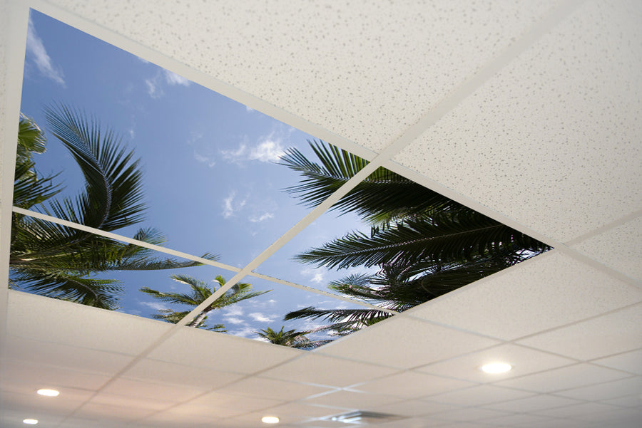 1386 Sky & Trees Ceiling Tile