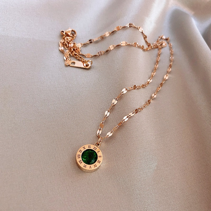 Green Zircon Necklace
