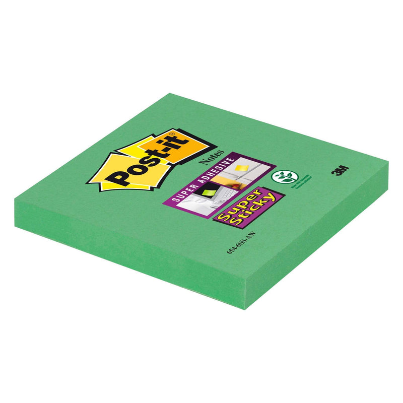 3M Post it Notes Grøn Post it Super Sticky Notes 76x76 mm