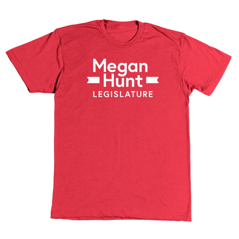 Megan for Nebraska Tee in Red