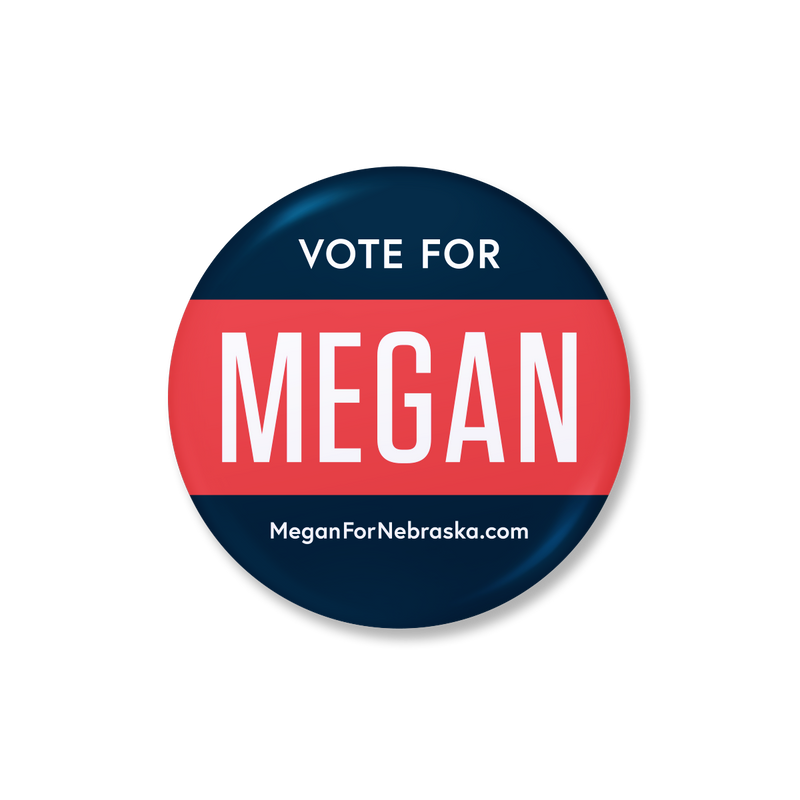 Vote for Megan Button in Blue