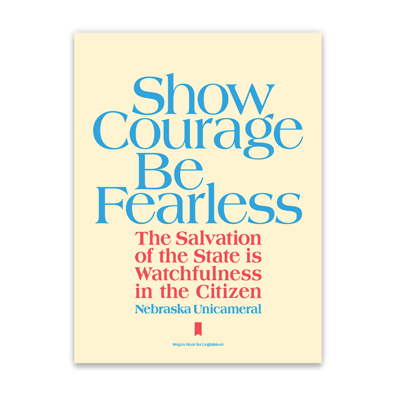 Show Courage Poster