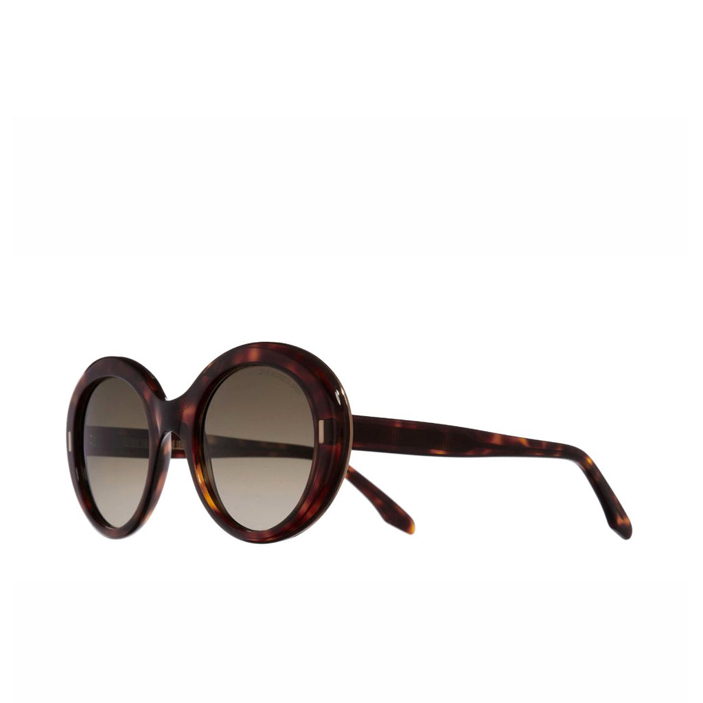 Dark Turtle Oversize Round Sunglasses