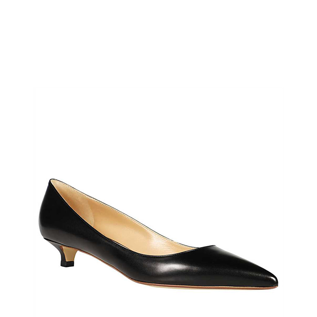 Black Pointed Kitten Heel Pump