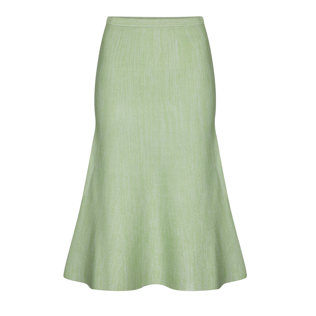 Peppermint Green Fluted Skirt