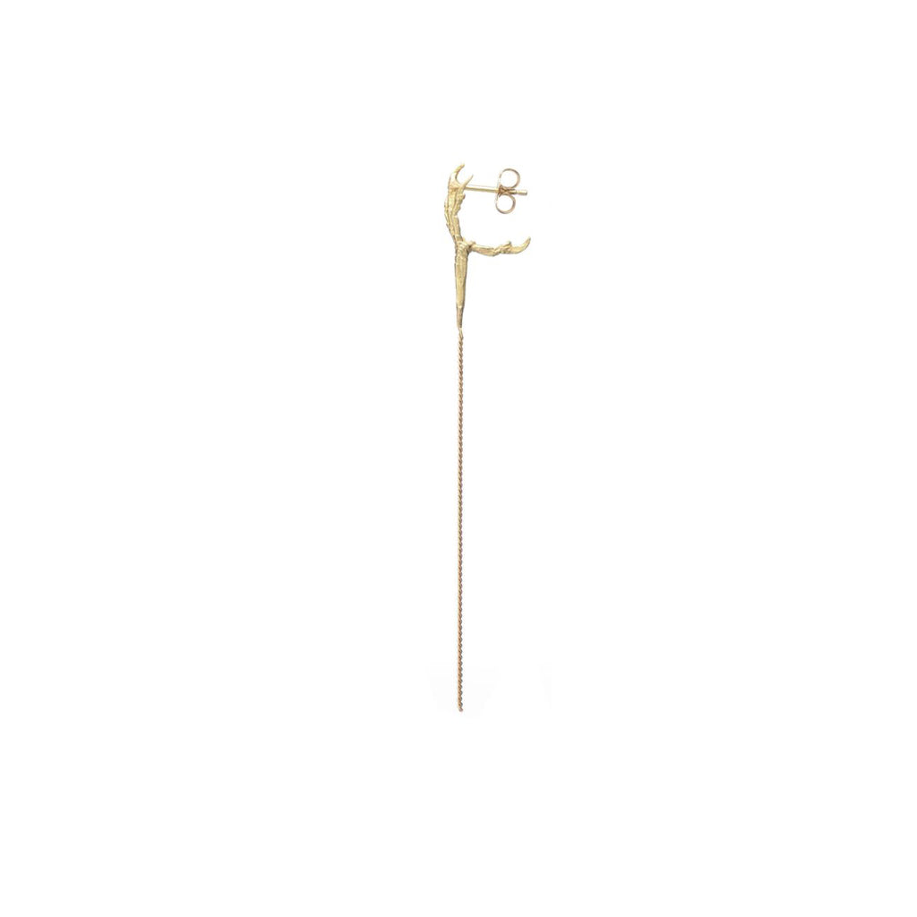 18kt Gold Crow's Foot Stud Earrings | Half Pair