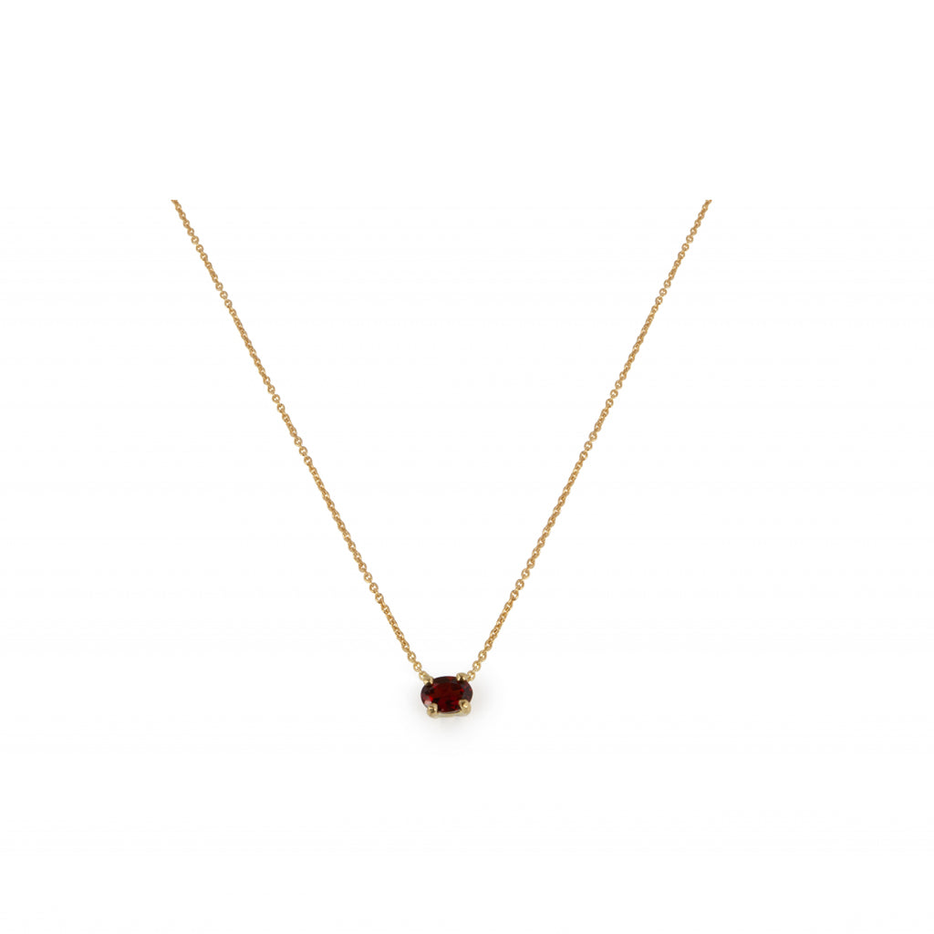 18kt Gold Necklace With Garnet