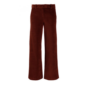 Hazelbrown Cotton Velvet Pants
