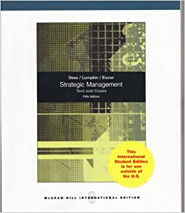 STRATEGIC MANAGEMENT TEXT AND CASES 5ED [Paperback] Dass by B. David Yoffie ,  A. Michael Cusumano, 2010