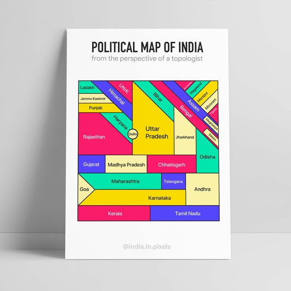 Political Map of India from a Topologist's Perspective