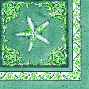 Oak Patch Gifts Napkin: Oceanus Collection - Starfish (6PK)