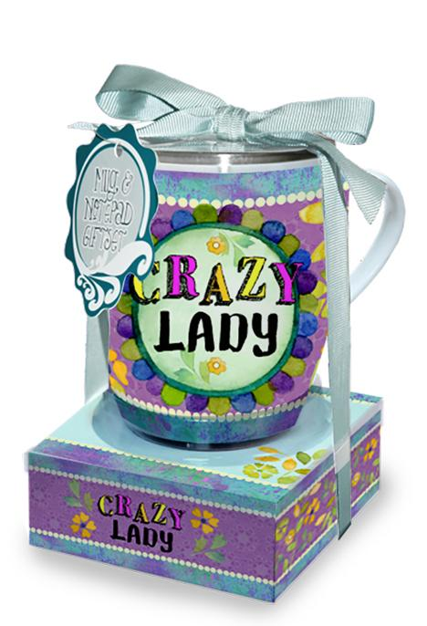 Oak Patch Gifts Mug & Note Stack: Crazy Lady