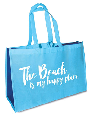 Oak Patch Gifts Coastal: The Beach is My Happy Place Oversized Tote