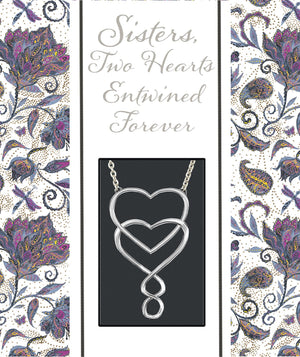 Oak Patch Gifts Cherished Women: Sisters Heart Necklace