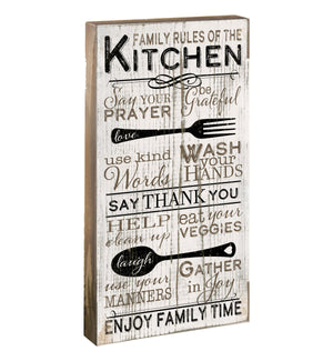 Oak Patch Gifts Vintage Kitchen: Kitchen Rules Blox Sign