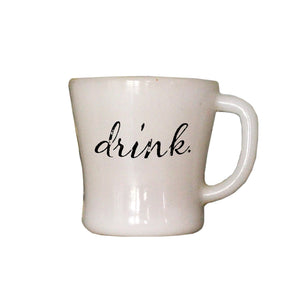 Oak Patch Gifts Vintage Kitchen: Drink Word Mug