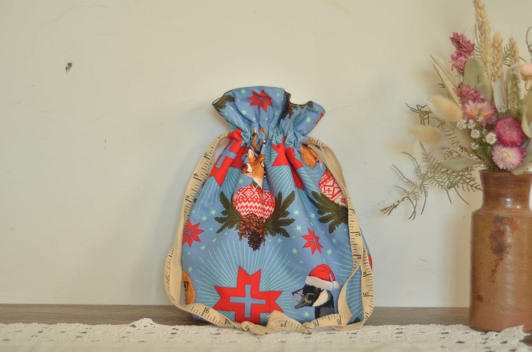 Christmas Forest Drawstring Bag