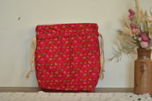 Load image into Gallery viewer, Colourful Snowflakes Drawstring Bag