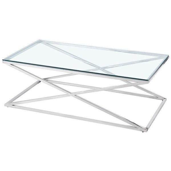 Luxe Cross Salontafel Silver