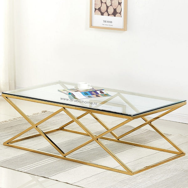 Luxe Double Cross Salontafel Gold
