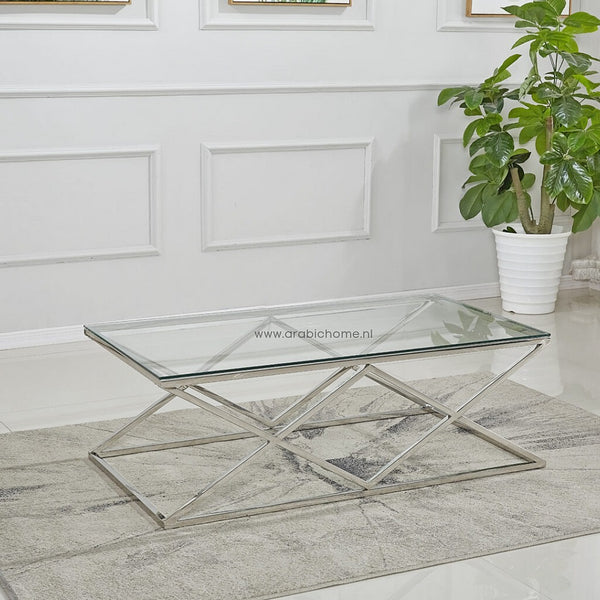 Luxe Double Cross Salontafel Silver