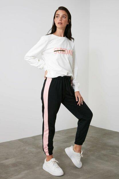 Women's Embroidered Knit Tracksuit