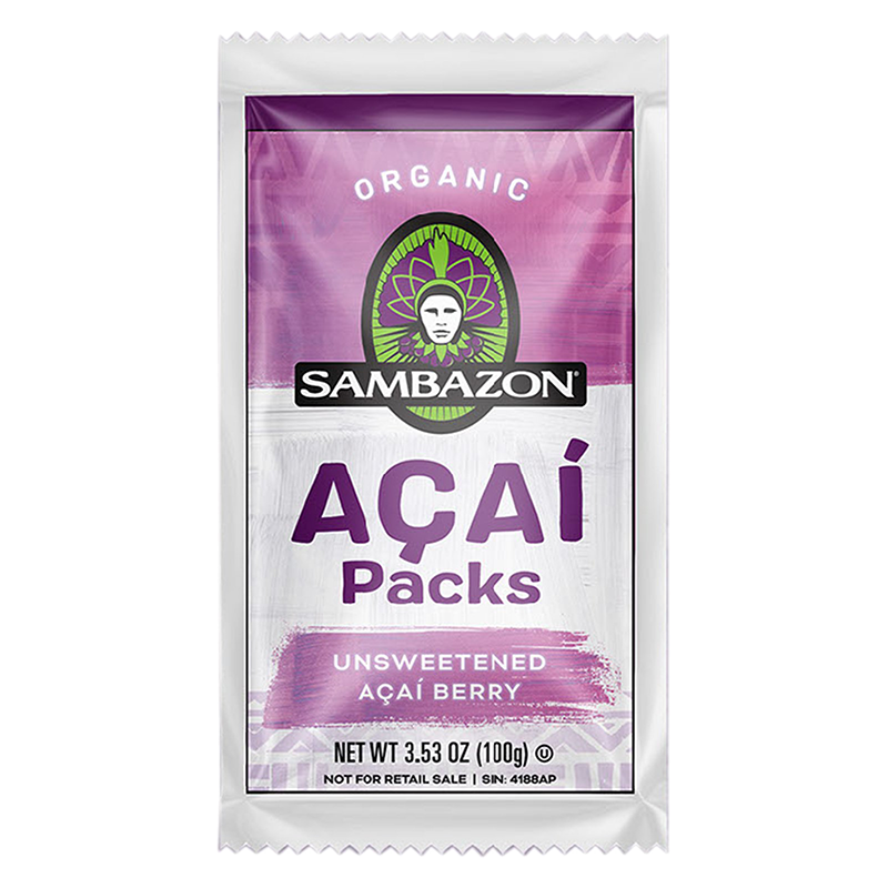 Pure Unsweetened Frozen Açaí Packets