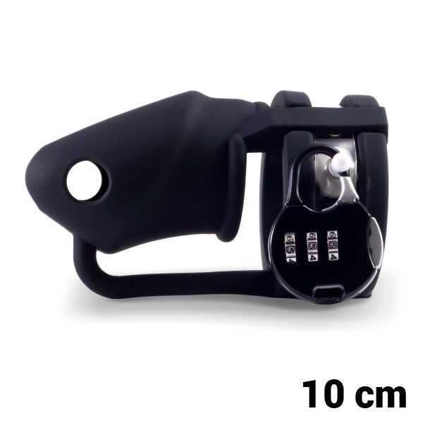 Cage à Pénis Silicone noir Lock-a-Willy 72800