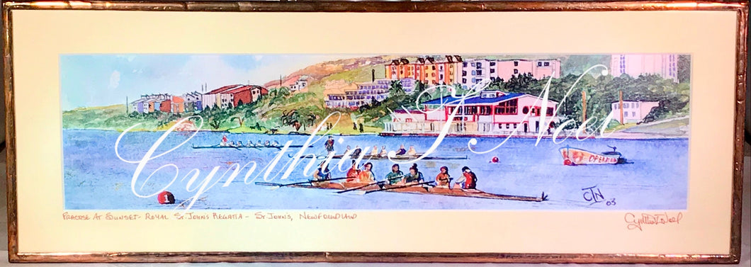 Practice at Sunset, Royal St. John's Regatta, Quidi Vidi Lake, St. John's, Newfoundland & Labrador