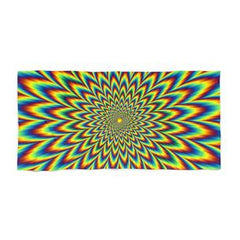 psychedelic illusion beach towel