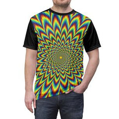 psychedelic illusions unisex graphic tshirt