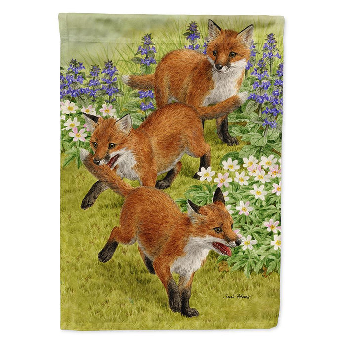 11 In. X 15-1/2 In. Polyester Fox Cubs 2-Sided 2-Ply Garden Flag