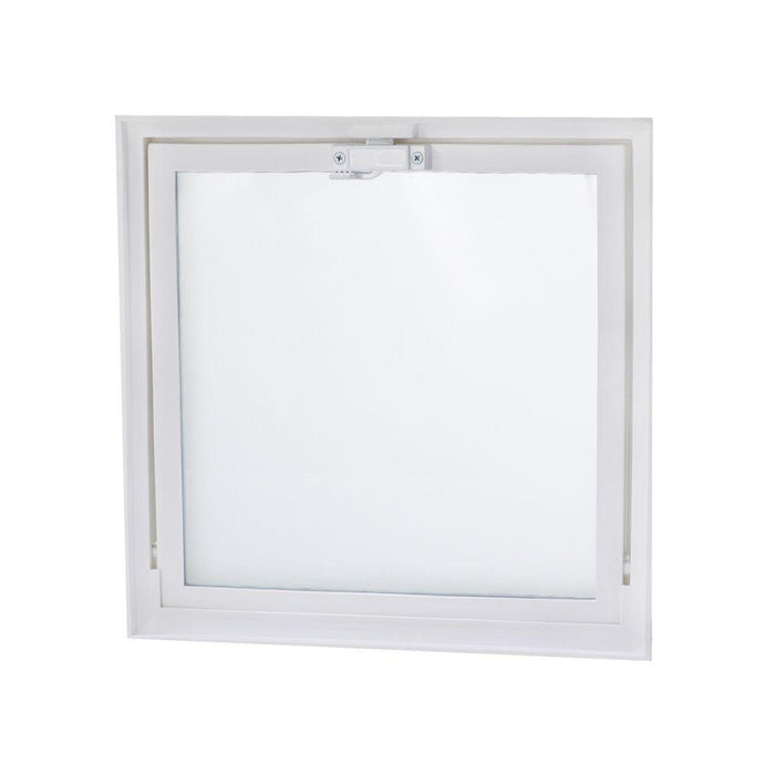 15.75 In. X 15.75 In. Hopper Vent With Screen For Glass Block Windows