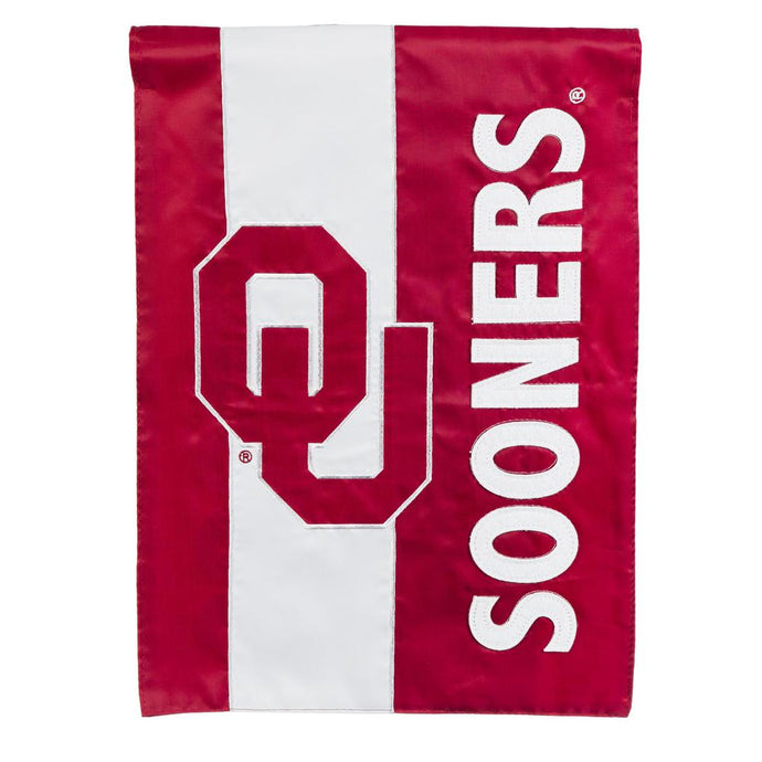 1 Ft. X 1-1/2 Ft.  University Of Oklahoma Embellished Garden Flag