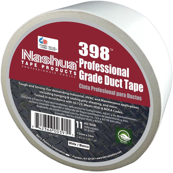 2.83 In. X 60.1 Yds. 398 All-Weather HVAC Duct Tape In White