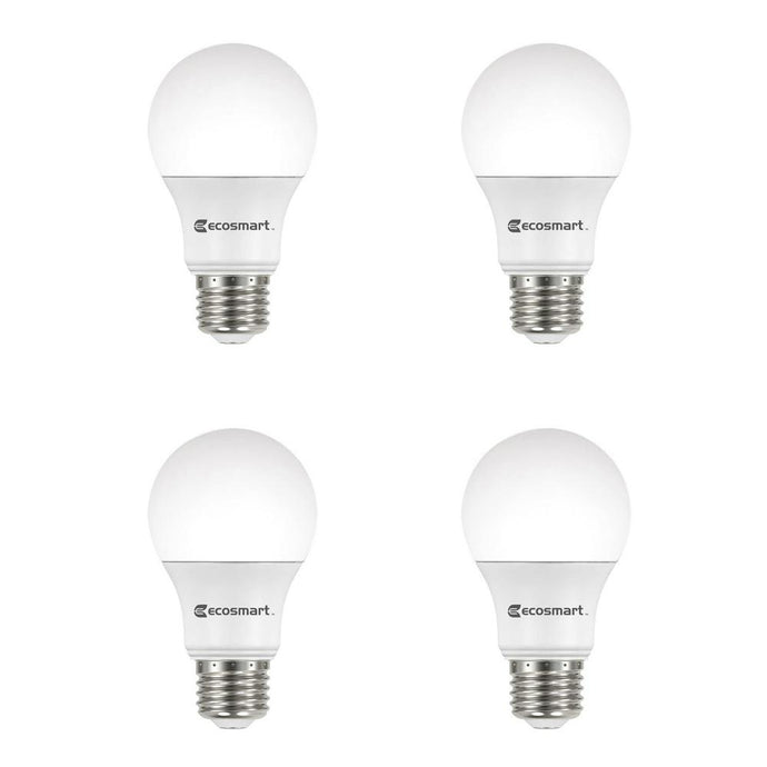 60-Watt Equivalent A19 Non-Dimmable CEC LED Light Bulb Daylight (4-Pack)