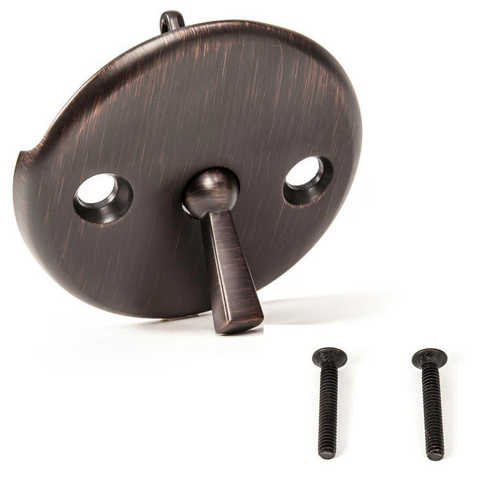 Bath Tub/Bathtub Drain Trip Lever Overflow Face Plate With Matching Screw For Waste And Overflow In Oil Rubbed Bronze