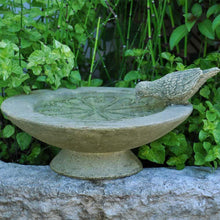 Load image into Gallery viewer, Cast Stone Table Birdbath | Outdoor Patio Garden Bowl Decor Water Basin Yard